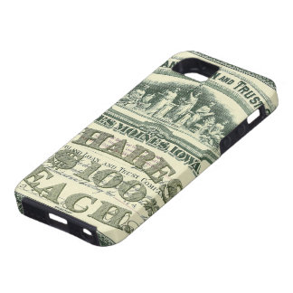 Vintage Capital Stock Certificate Business Finance iPhone SE/5/5s Case