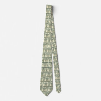 Vintage Capital Stock Certificate Business Finance Neck Tie