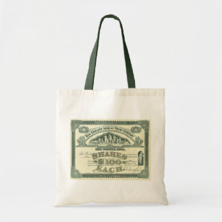 Vintage Capital Stock Certificate Business Finance Tote Bag