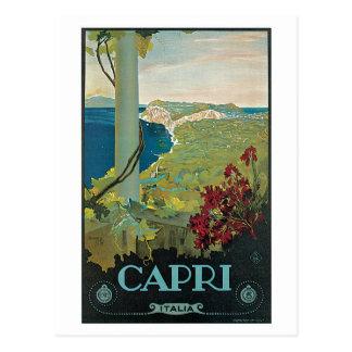 Vintage Capri Italy Travel Ad Postcard