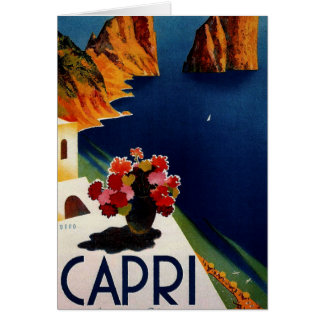 Vintage Capri Italy Travel Card