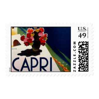 Vintage Capri Italy Travel Postage Stamp