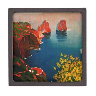 Vintage Capri L'Isola del Sole Italia Cajas De Recuerdo De Calidad
