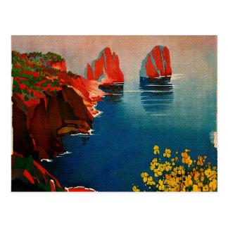 Vintage Capri L'Isola del Sole Italia Postales