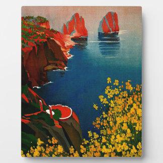 Vintage Capri L'Isola del Sole Italy Plaque