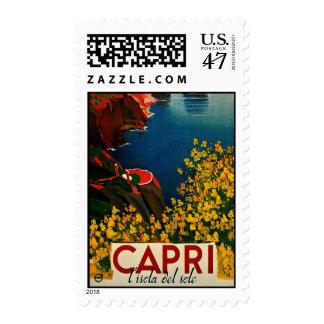 Vintage Capri L'Isola del Sole Italy Postage