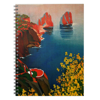 Vintage Capri L'Isola del Sole Italy Spiral Notebook