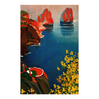 Vintage Capri L'Isola del Sole Italy Stationery