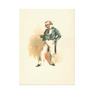 Vintage Captain Cuttle Dombey & Son Canvas Print
