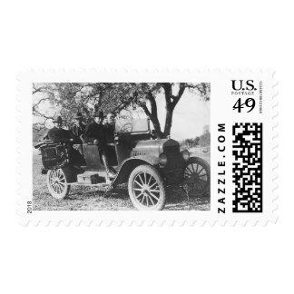 vintage car 1918 postage stamp