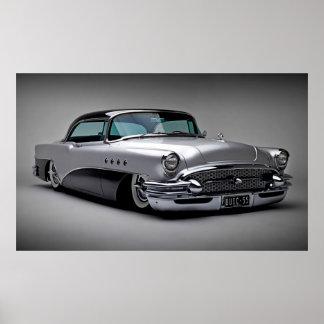 Vintage car 57 poster