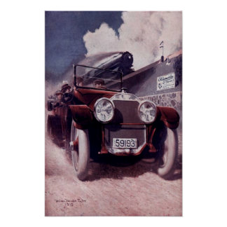 Vintage Car Ad From 1915 Poster