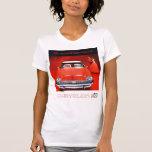 Vintage Car Ad Ladies T-Shirt