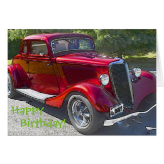 Vintage Car Birthday Card
