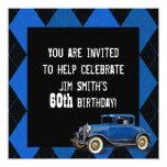 Vintage Car Birthday Invite
