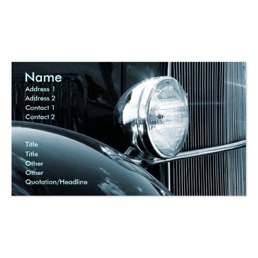 Vintage Car Business Cards