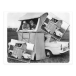 Vintage Car Camping Caravan Postcards