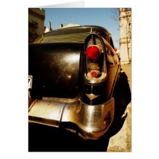 Vintage Car Card card