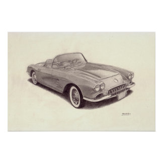 Vintage Car: Chevrolet Corvette Poster