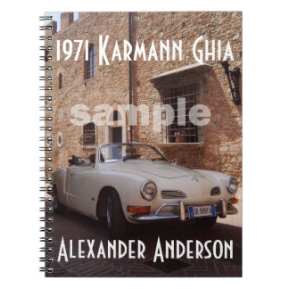 Vintage Car Collector's Custom Notebook