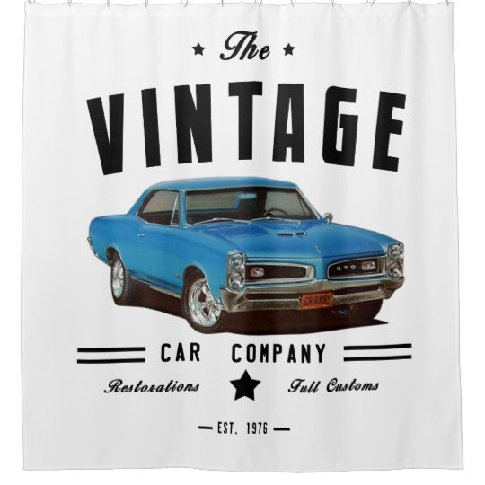 Vintage Car Company GTO Shower Curtain