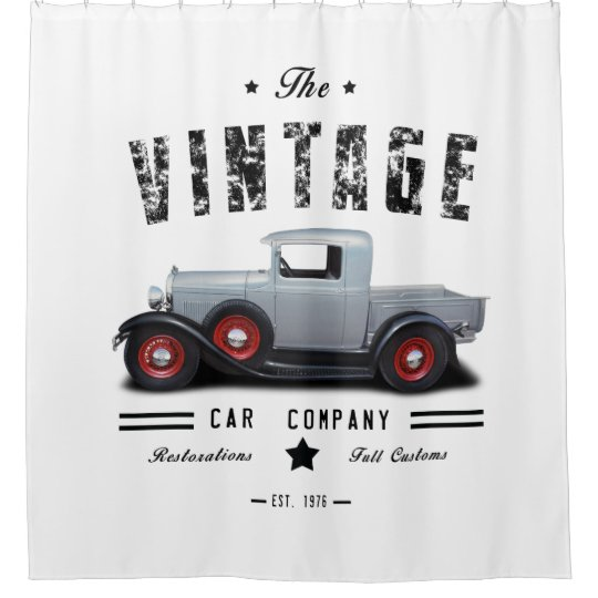 Vintage Car Company Street Rod Shower Curtain