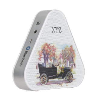 Vintage car custom monogram Bluetooth speaker