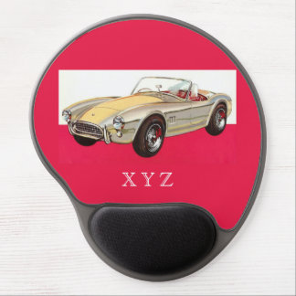 Vintage car custom monogram mousepad