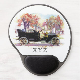 Vintage car custom monogram mousepad gel mouse pads