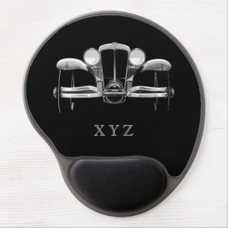 Vintage car custom monogram mousepad gel mousepads