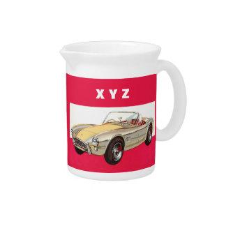 Vintage car custom monogram pitcher