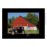 Vintage Car for Birthday Greeting Cards
