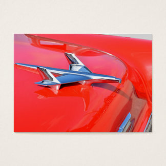 Vintage Car Hood Ornament Airplane Business Card