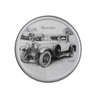 Vintage car illustration bluetooth speaker
