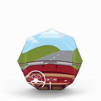 Vintage Car Interior Acrylic Award