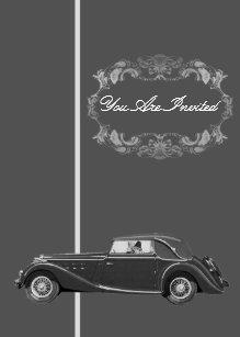 Vintage Car Wedding Invitations Zazzle - Classic car invitations