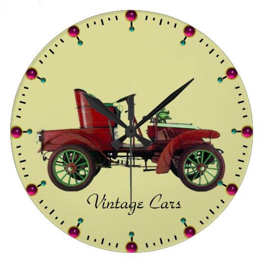 VINTAGE CAR LARGE CLOCK