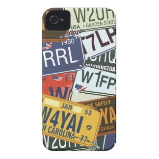 Vintage Car Licence Plates Blackberry Bold Case