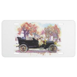Vintage car license plate