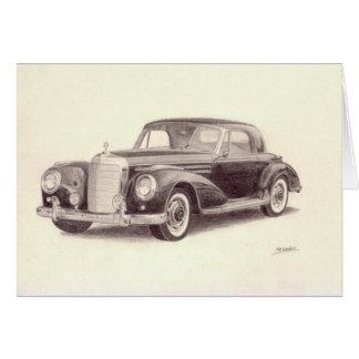 Vintage Car: Mercedes Benz 300S Card