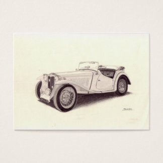 Vintage Car: MG TC Business Card