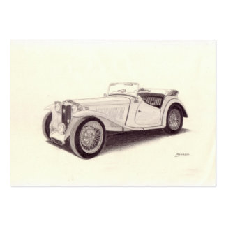 Vintage Car MG TC Business Cards