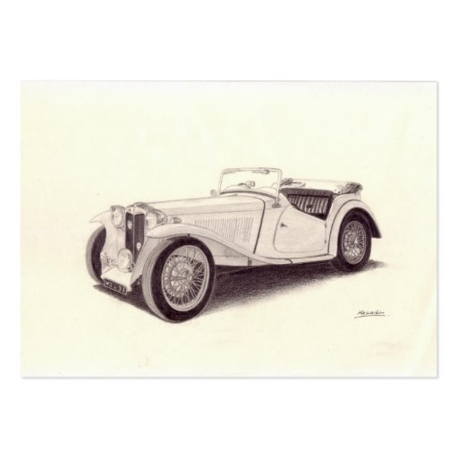 Vintage Car: MG TC Business Cards