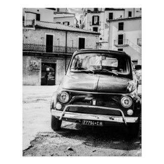 Vintage car Perfect Poster | Fiat 500 | Italy