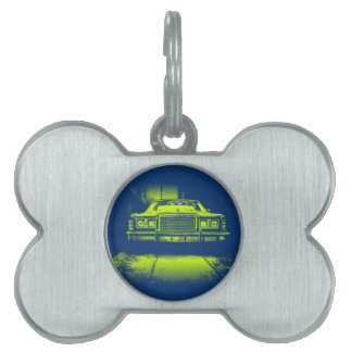 Vintage Car Pet ID Tag