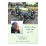 Vintage Car Photo Birthday Party Invitation