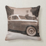 Vintage Car Pillow