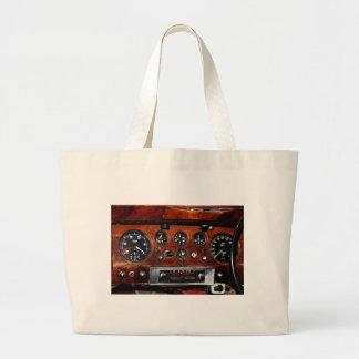 vintage car radio and instruments large tote bag