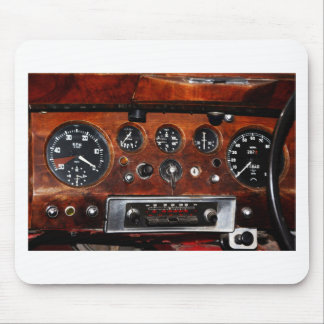 vintage car radio and instruments mouse pad