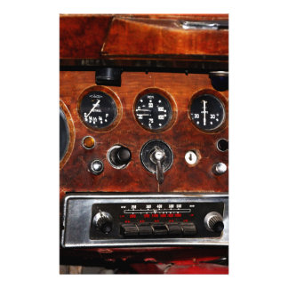 vintage car radio and instruments stationery